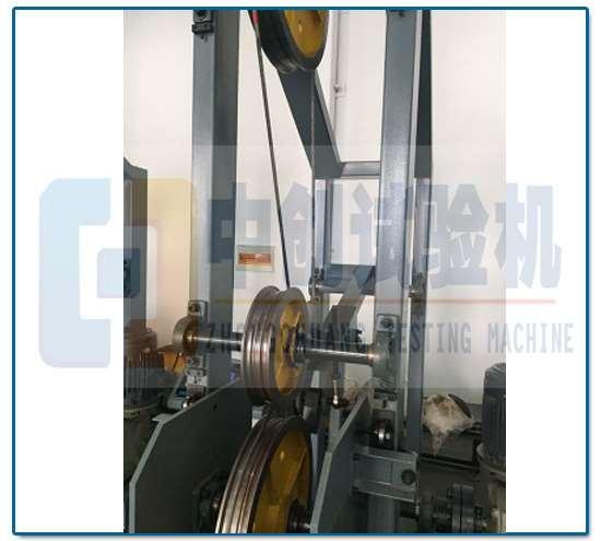 钢丝绳弯曲疲劳试验机 内部结构图