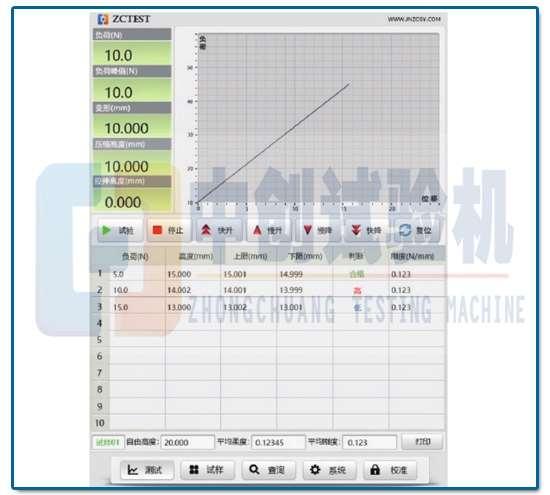 50N弹簧拉压试验机试验软件