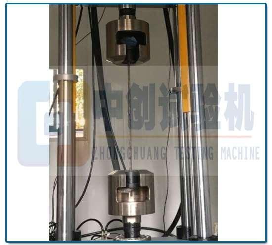 疲劳试验机夹持钢绞线方法